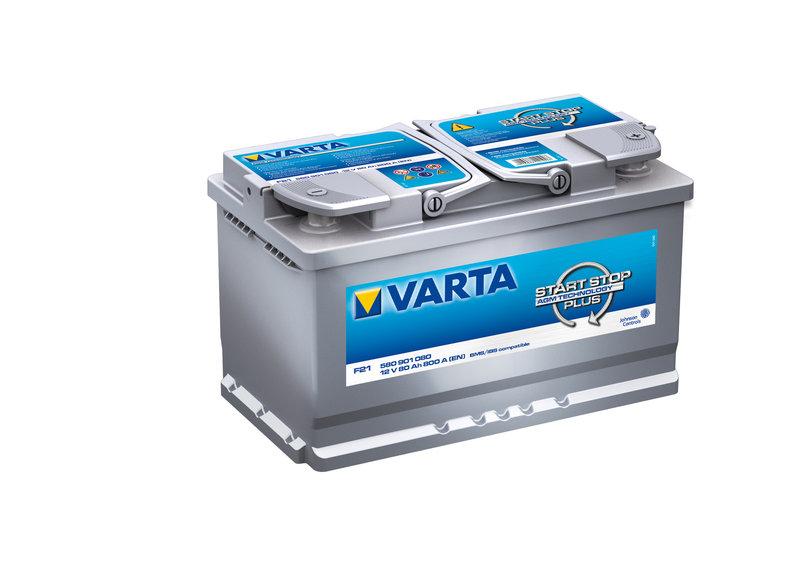 bateria coche 80ah varta f21 start stop plus agm 800a 12v. Black Bedroom Furniture Sets. Home Design Ideas