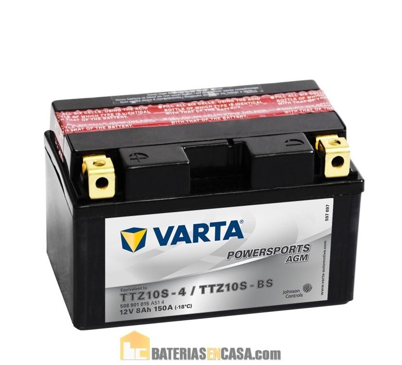 VARTA POWERSPORT AGM 12V 8AH 50801 YTZ10S-4 / YTZ10S-BS