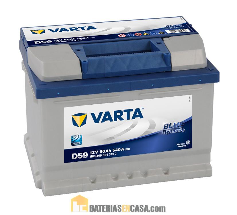 BATERIA COCHE 60AH VARTA D59 BLUE DYNAMIC 540A 12V